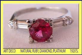 deco ruby and ring antique deco ruby platinum ring for sale