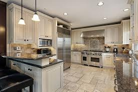 white kitchen cabinets tile floor kitchen and decor
