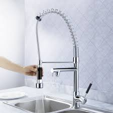 Watersaver Faucet Company Careers by Sprinkle Deck Mount Solid Brass Spring Kitchen Faucet With Two