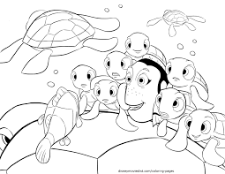 Dory Marlin Jellyfish Coloring Page Finding Nemo