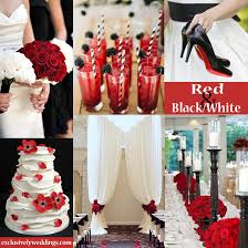 Black White And Red Wedding Colors 3