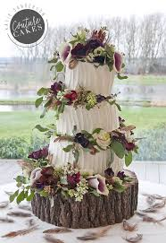Serves 120 Portions Price Category B GBP495 Plus Flowers Rustic Wonky Cake