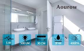 aourow led spiegelle badezimmer spiegelleuchte 5w 300mm 500lm ip44 badleuchte neutralweiß 4000k spiegellen spiegel badezimmerschrank 230v led
