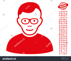 Pensioner Icon Bonus Human Design Elements Stock Vector