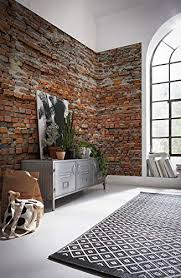 komar vlies fototapete bricklane 368 x 248 cm tapete wand dekoration wandbelag wandbild wanddeko steinoptik steinwand backstein