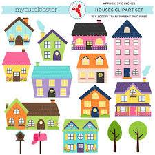 Houses Clipart Set
