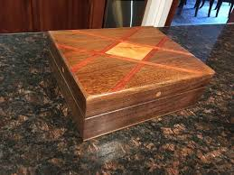 This Box Is Claro Walnut With Bubinga Criss Crossing And A Cherry Diamond Inlay There Woodworking ProjectsCherryDiamondBoxSnare