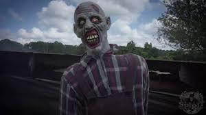 Spirit Halloween Animatronic Mask by Zombie Farmer Animatronic Spirit Halloween Youtube