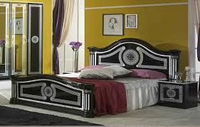 serena klassische schlafzimmer doppelbettgestell schwarz grau