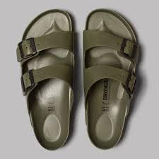 birkenstock arizona eva sandals khaki open toes open mind