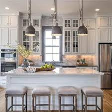 White and Gray Kitchen with Gray Window Trim Moldings …