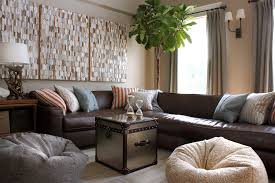 Brown Leather Sofa Living Room Ideas by Brown Leather Sofa Living Room Contemporary With Balcony Colored