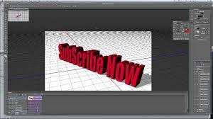 3D ANIMATION IN ADOBE PHOTOSHOP CS6