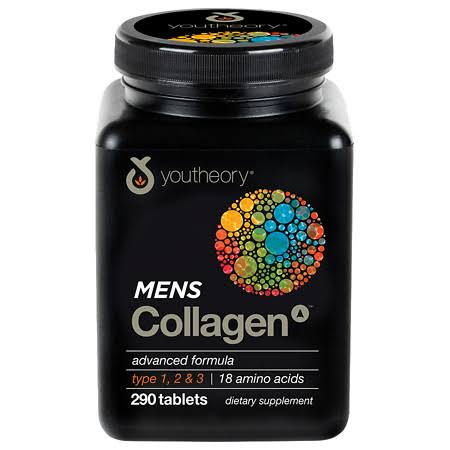 Youtheory Men's Collagen Advanced Formula Supplement - 290 Tablets