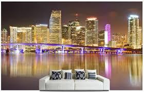 individuelle fototapeten miami skyline wandbilder für wohnzimmer sofa schlafzimmer tv wand wasserdicht vinyl die tapete