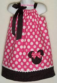 minnie mouse pillowcase dress pink dots bk micro dots