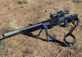Savage Arms 110 BA Rifle In 338 Lapua With Added Suppressor