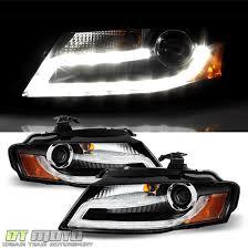 blk 2009 2012 audi a4 s4 b8 led drl light projector