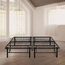 rest rite 14 in queen metal platform bed frame mfp00112bbqn the