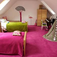 Pink And Green Twins Bedroom