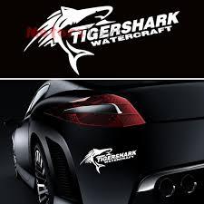 1) Hot JDM Cool Tigershark Watercraft Racing Reflective Vinyl Car ...