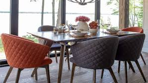 Dining Room Walnut Table Set Round And Chairs Wood Modern ...