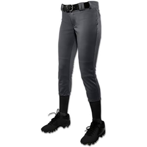 Champro Tournament Low-Rise Girl's Fastpitch Softball Pant Graphite