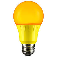 yellow led a19 120 volt e26 medium base light bulb not