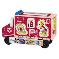 100 Pink Fire Truck Toy Disney Baby Mickey Mouse Friends Wooden 100 PIECES
