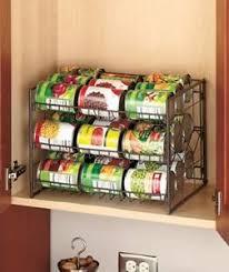 TWO BRONZE 3 Tier Can Organizer Kitchen Pantry Food Soda Storage