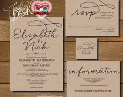 Blank Wedding Invitation Kits