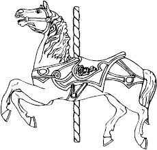 Coloring Page Of A Horse Free Pages Strong Carousel