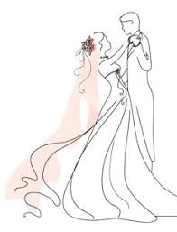 Wedding clipart outline 6
