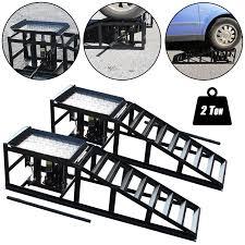 100 Heavy Duty Truck Service Ramps Tech7 Vehicle Car Ramp Lift 2000kgs Hydraulic Jack Garage