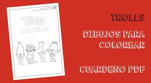 Dibujos Trolls Colorear PDF Recursos Para Niñs