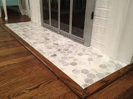 hex tile hearth pad search fireplace