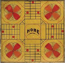 Antique Painted Parcheesi Gameboard Sold By Northeast Auctions Find This Pin And More On Vintage Game Boards