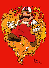 Fire Flower Mario Coloring Pages Colouring Page