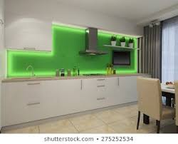 Modern White Kitchen Interior 3d Rendering Stockfoto Und 3d Rendering Of Modern White Kitchen White Modern Kitchen
