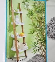 regal leiter organic bambusoptik badezimmer wohnzimmer allzweckregal 176 x45 x35cm