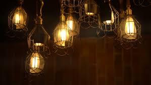 retro light bulb lighting series lights with brick wall
