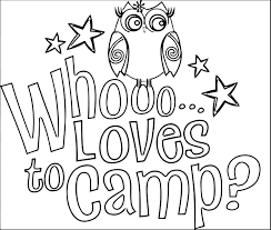 Camping Coloring Pages Campfire In Page