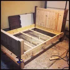 Full Size Wood Bed Frame Plan Building Full Size Wood Bed Frame
