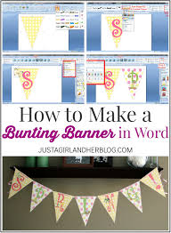 I Cant Believe You Can Make This Cute Bunting Banner In Word