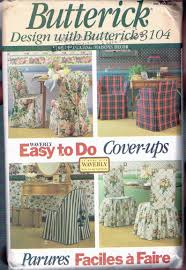 Easy Tie Back Chair Cover Sewing Patterns - Tie On Chair Cover - Butterick  Home Decor Sewing Pattern - 3104