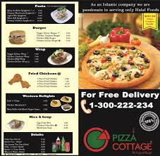 Our brand new delivery menu Pizza Cottage Wisma UOA
