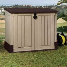 Suncast Resin Glidetop Outdoor Storage Shed Bms4900 by Small Outdoor Storage Stuff To Buy Pinterest Seasons Shops