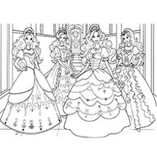 Barbie And The Princess Coloring Pages