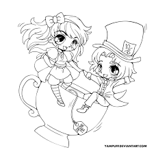 Anime Alice Chibi Coloring Pages Sketch Page