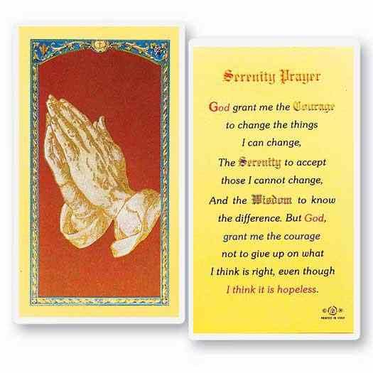 Serenity Laminated Prayer Cards 25 Pack